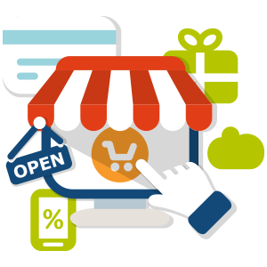 ecommerce icon shopping store cart